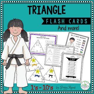 Multiplication and Division Flash Cards • 1-10 Triangle Flash Cards - color • 1-10 Triangle Flash Cards – B&W • 4 Anchor Posters • Partner Quiz Interactive Activity • Recording Sheets • Karate Belt Student Tracking Poster • Teacher Tips & Suggestions • Letter to Parents to encourage study at home • Common Core Standards