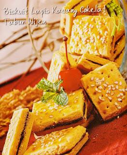 Rеѕер Kue - Biskuit Lapis Kacang Cоkеlаt Tаbur Wіjеn