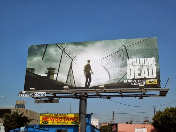 The Walking Dead season 4 billboard