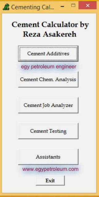 تحميل برنامج Drilling Cement Calculator