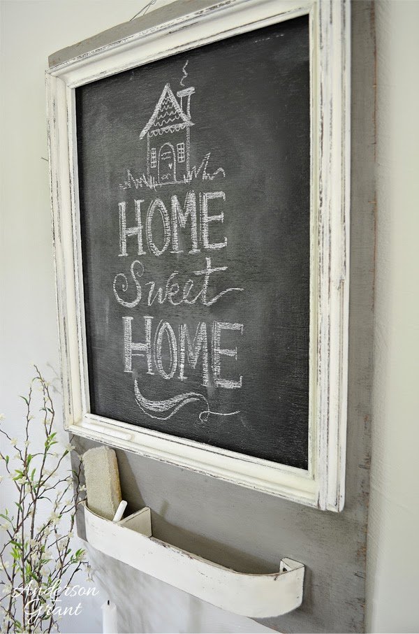 Trash to Treasure Chalkboard Message Center from anderson + grant