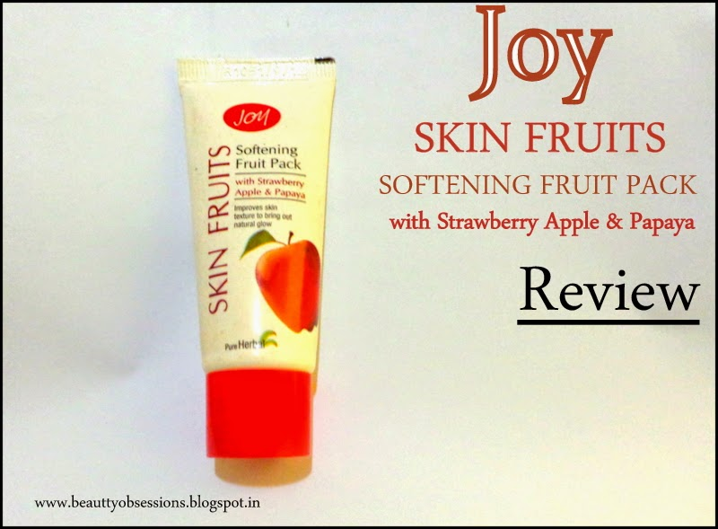 Review - Joy Skin Fruits Softening Fruit Pack with Strawberry, Apple & Papaya
