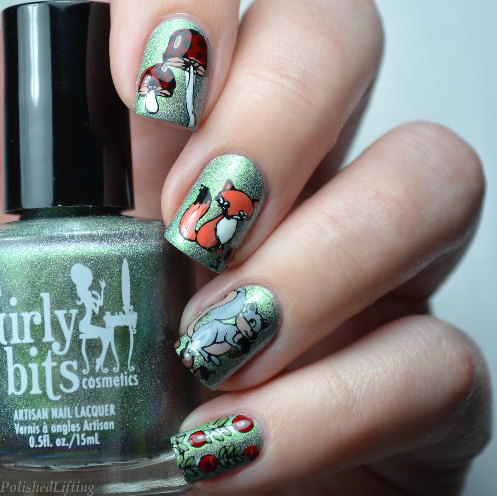 Polished Lifting Forest Animal Nail Art Featuring Born Pretty Store