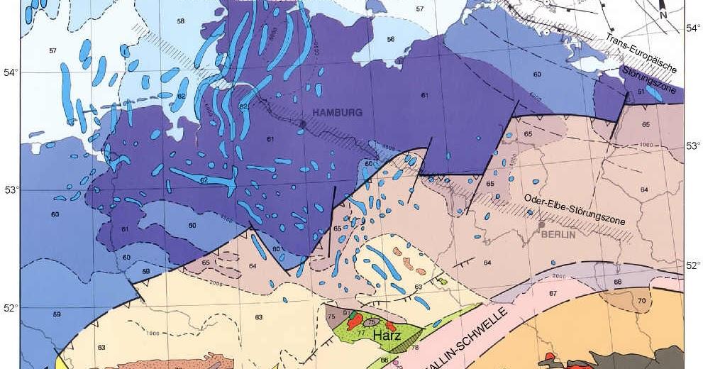 tektonische karte deutschland Online: Tektonische Landkarte von Deutschland | Deutschlandkarte