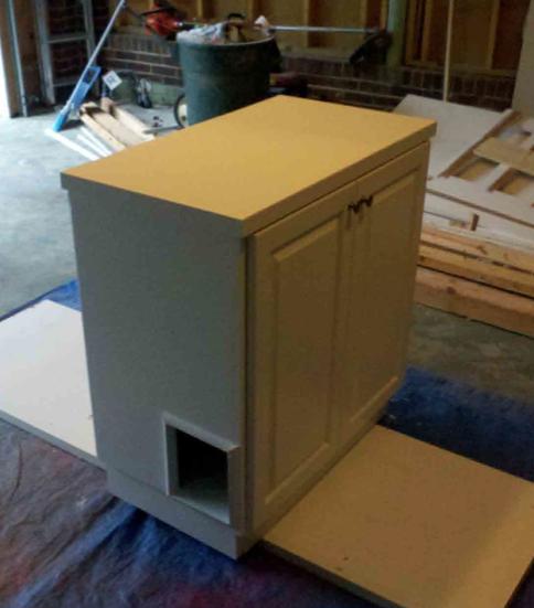 Hiding the Cat Litter Box!