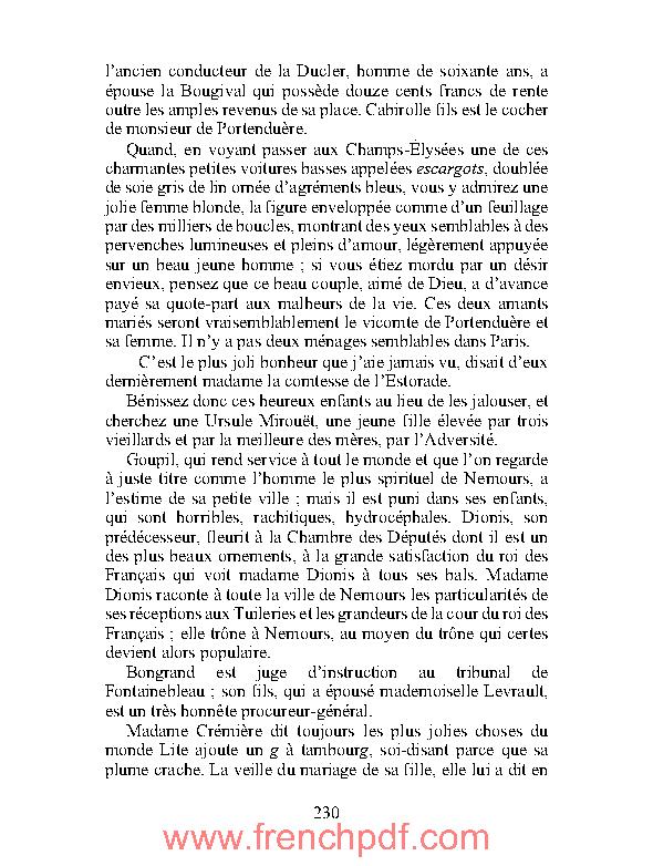 Roman: Ursule Mirouët en pdf par Honoré par Balzac à Télécharger Gratuitement