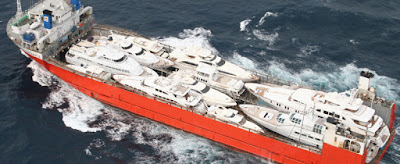 Specialized ships for yacht transport