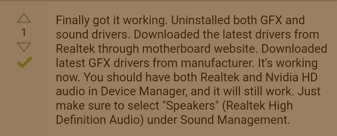 what is nvidia audio driver