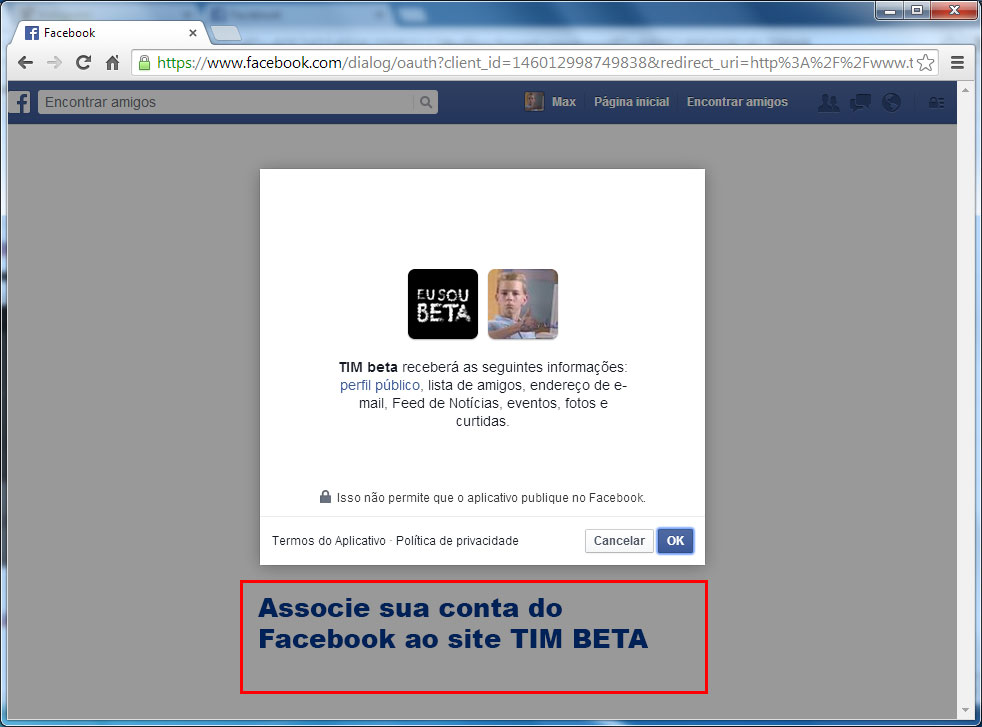 Tim beta facebook