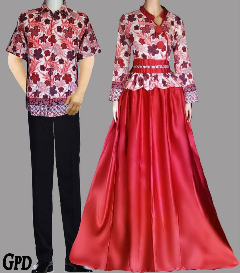 Model Baju Gamis Batik Brokat Sifon Satin Terpopuler 2018