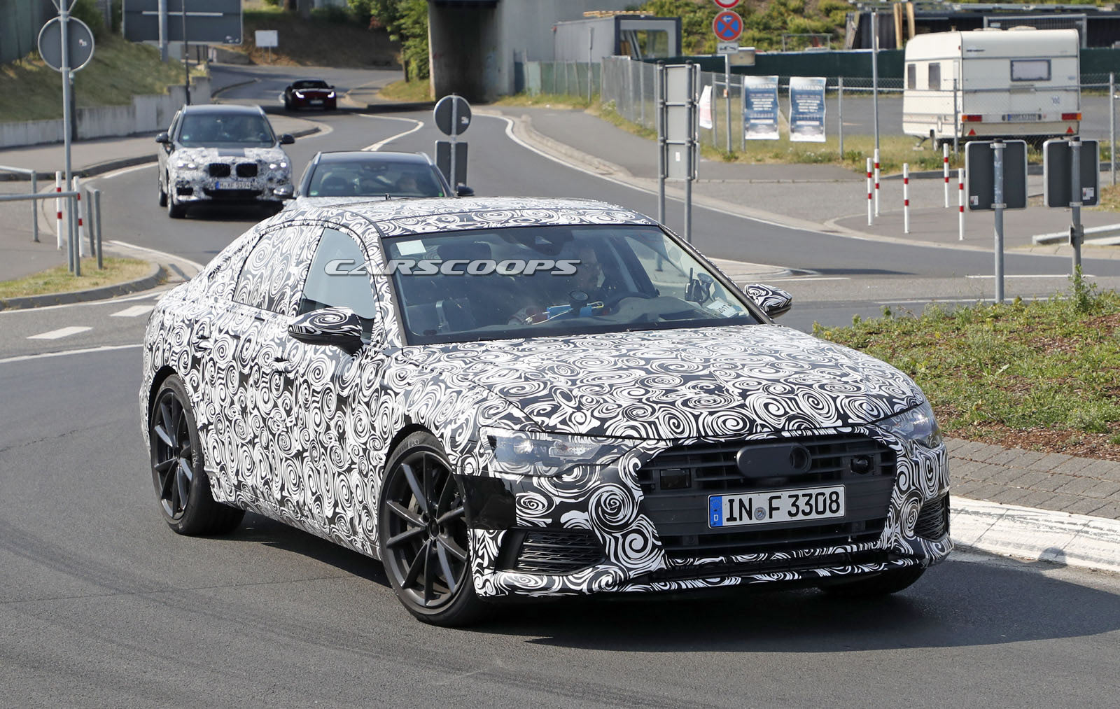 new audi s6 gets ready to bring the fight to bmw 39 s m550 xdrive. Black Bedroom Furniture Sets. Home Design Ideas