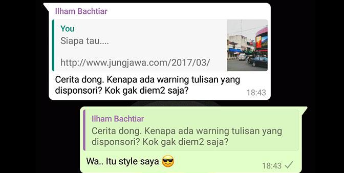 Ilham bertanya tentang Disclosure