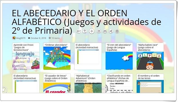 """""""16 Juegos y actividades interactivas sobre EL ABECEDARIO Y EL ORDEN ALFABÉTICO en 2º de Primaria"""""""