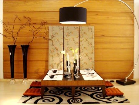 mesa de jantar japonesa