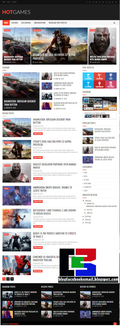 Download 10+ Koleksi Template Blogger Keren Gratis Terbaru 2019 4