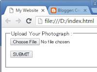 uploading file in HTML