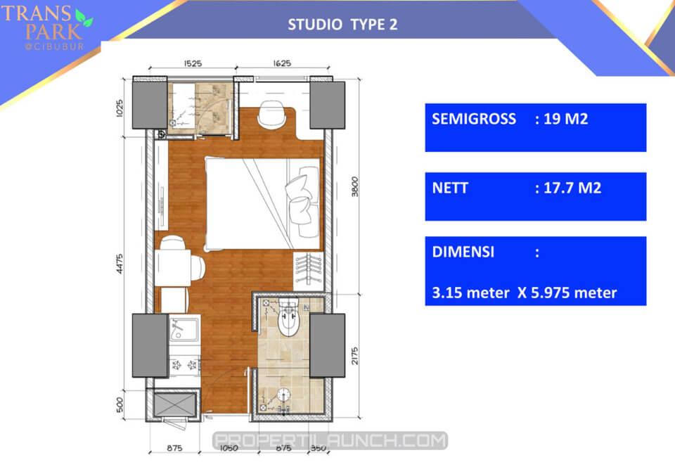 Studio 2 Apartemen Trans Park