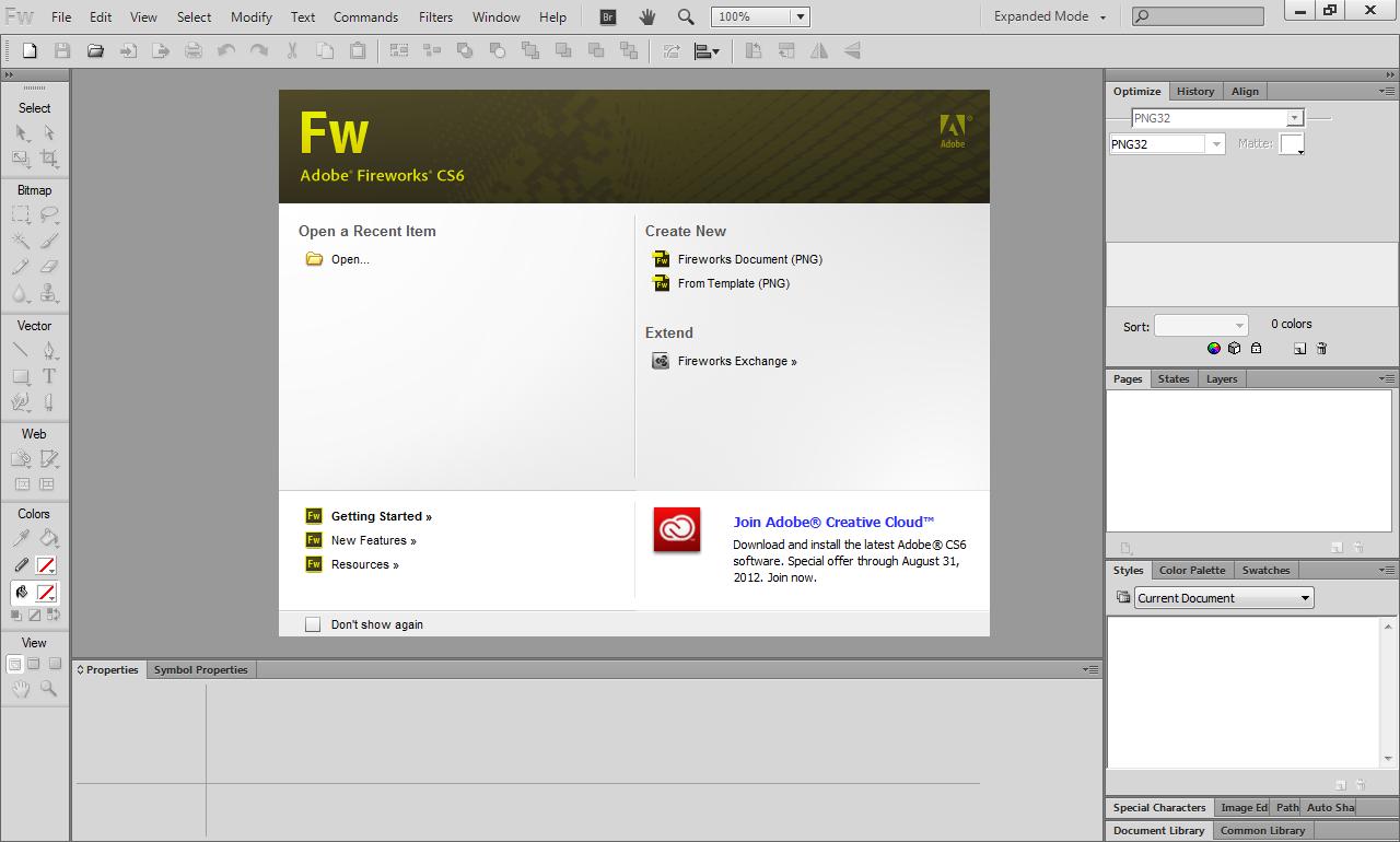 Adobe Fireworks CS6 Full Español