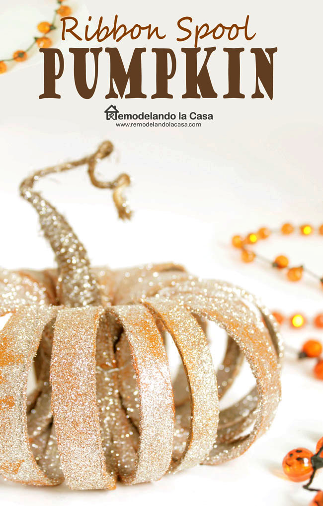 decorate for fall with pumpkins - from recycled products