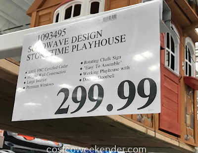 Deal for the Cedar Summit Stoneycreek Cedar Playhouse at Costco