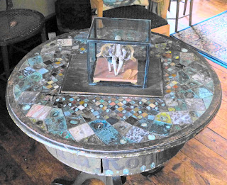 Inlaid worktable by one of the Parminter cousins, the Drawing Room, A la Ronde