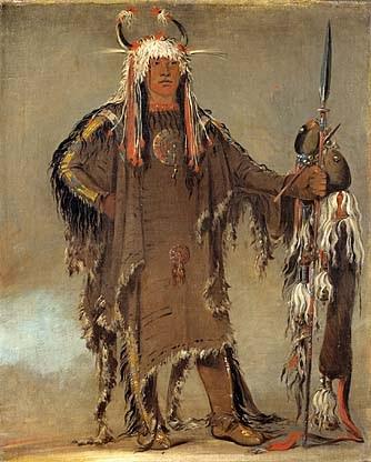 blackfoot indian native american chief indians dress catlin tribe piegan george tribes clothing blackfeet history peh americans pe kiss ribs