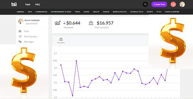 كيف ربحت 140 دولار من موقع TSU وكيفية السحب من TSU ومعلومات عن ربح المال