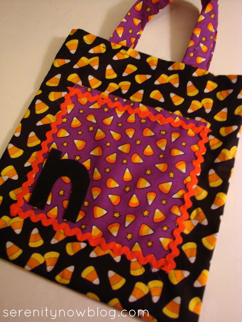 Homemade Halloween Trick or Treat Bag, Serenity Now blog