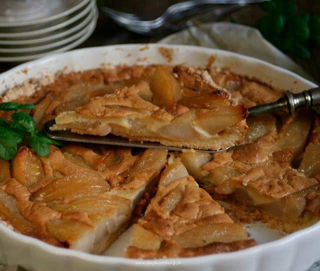 kandyzowane gruszki, gruszkowe ciasto, ciasto z gruszkami, tarta, daylicooking