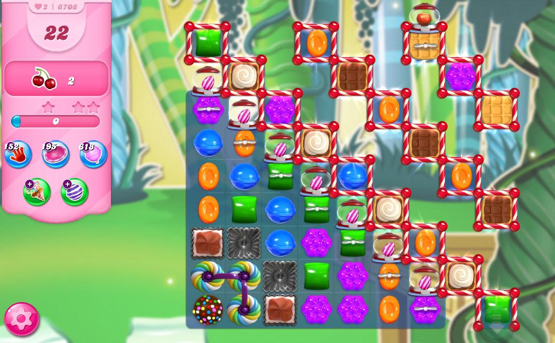 Candy Crush Saga level 6708