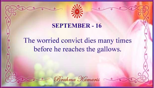 Thought For The Day September 16