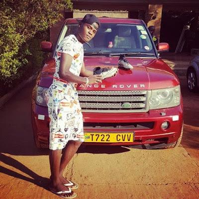 Mbwana Samatta With Range Rover