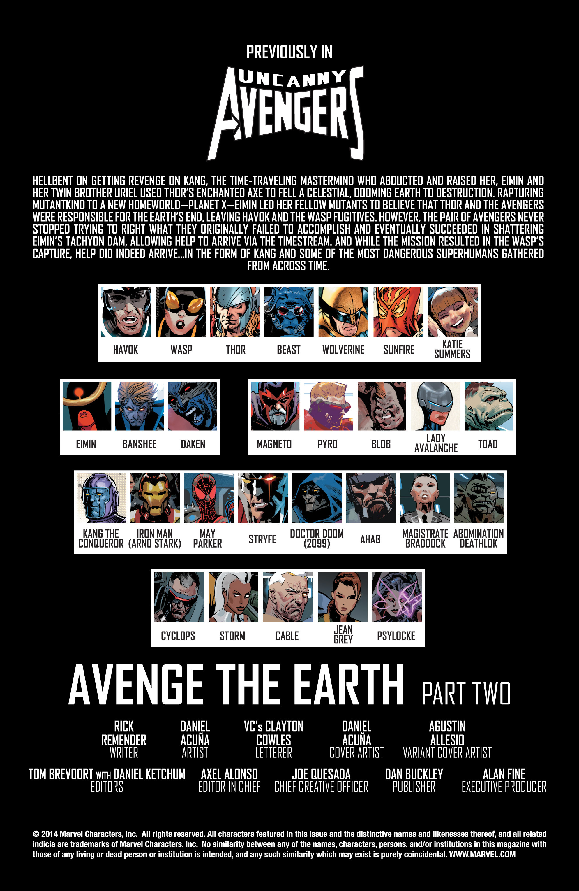 Read online Uncanny Avengers (2012) comic -  Issue #19 - 2