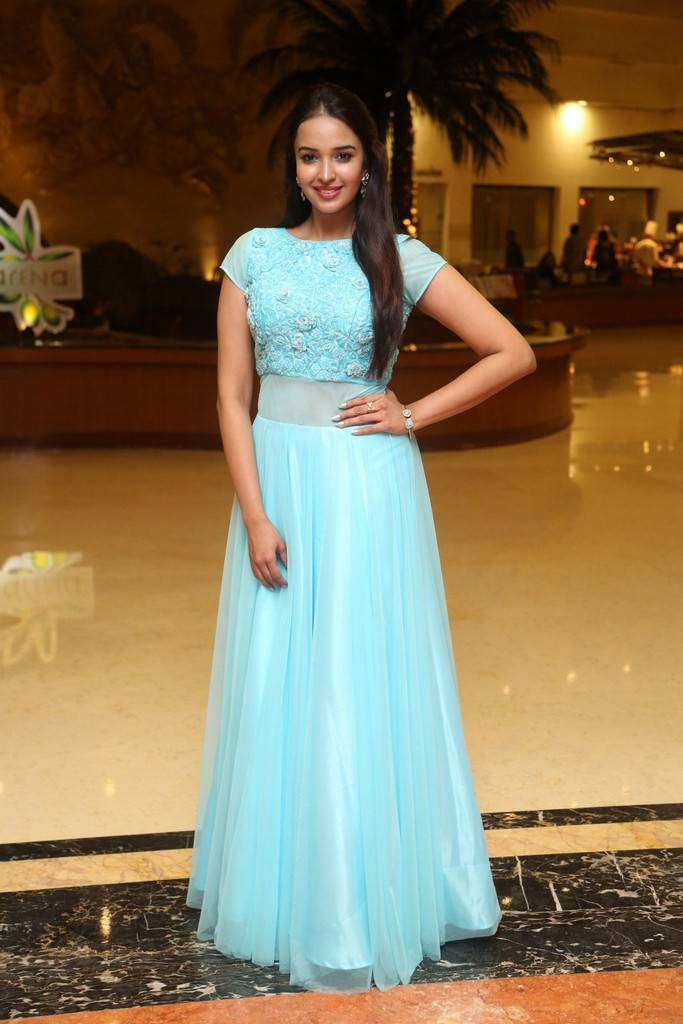 Pujita In Blue Dress