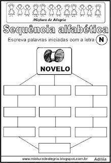 Sequência alfabética letra N