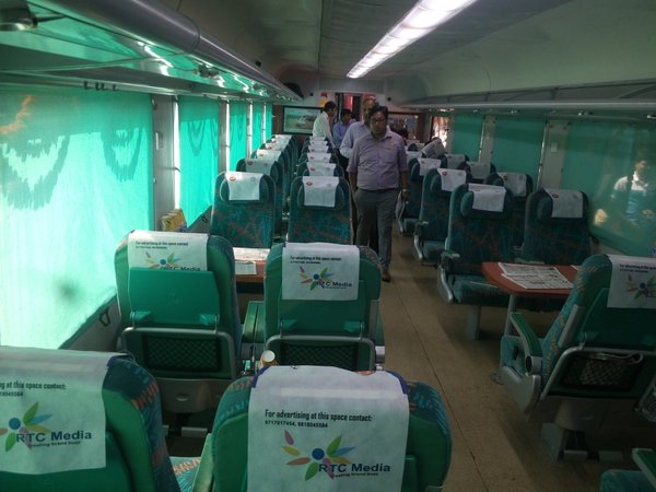 executive class inside gatiman express