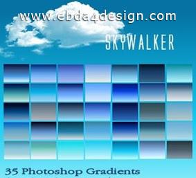 تحميل تدرجات ألوان السماء مجاناً, Photoshop Gradients free Download,Sky Colors Photoshop Gradients free Download