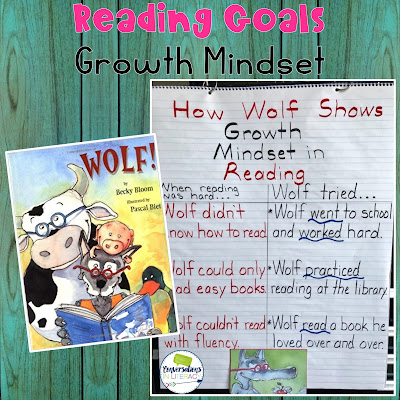 reading goals, growth mindset and the book Wolf