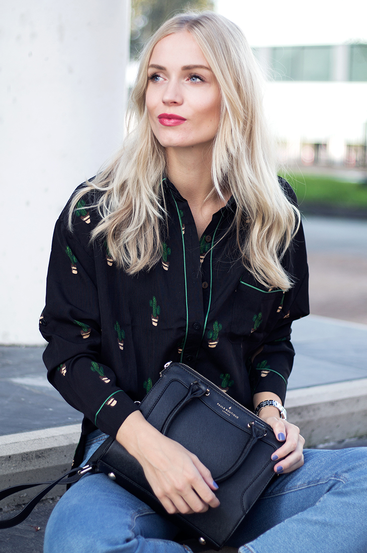 Fashion Attacks outfit ootd Loavies printed blouse