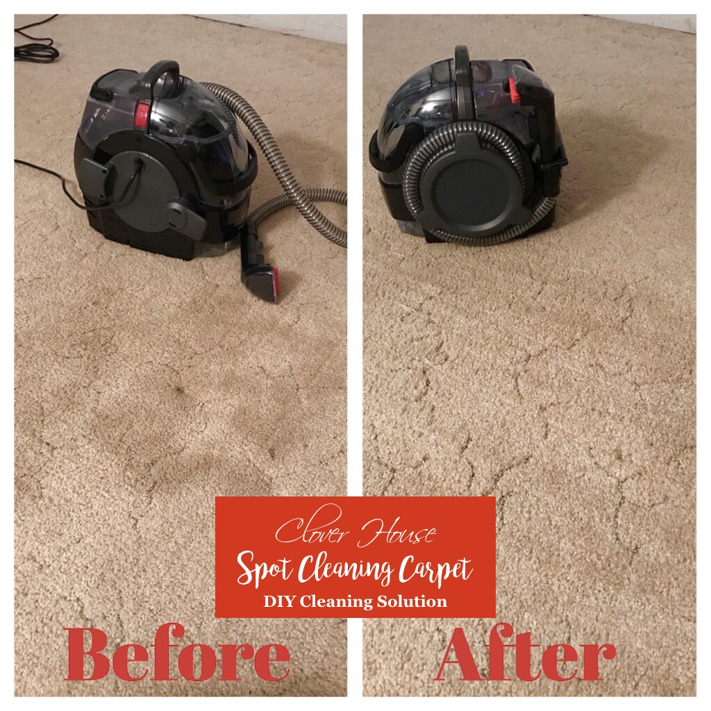 Clover house spot cleaning carpet with a diy cleaning solution im also glad that we can still use our homemade carpet cleaning solution in this machine as well thats the best part of it to me solutioingenieria Images