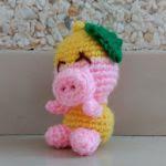 patron gratis cerdo limon amigurumi | free pattern amigurumi pig lemon