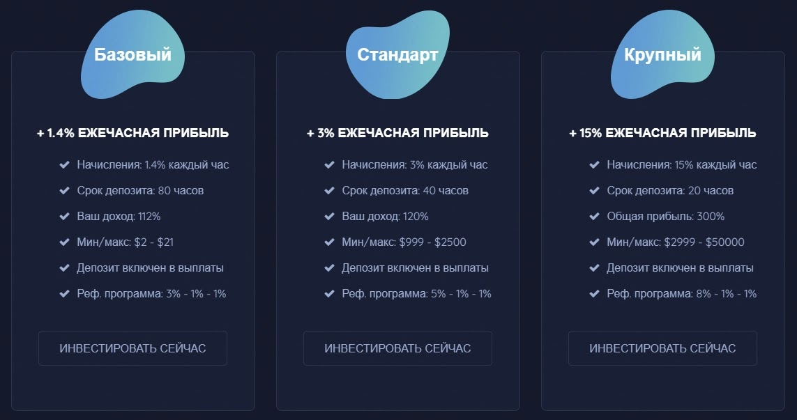 Инвестиционные планы Рестарт Blue Traders LTD