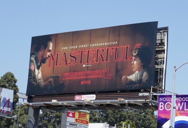 Stranger Things 2 Masterful Emmy FYC billboard