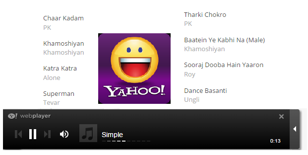 How to Install Yahoo ( web ) Music Player on Blogger