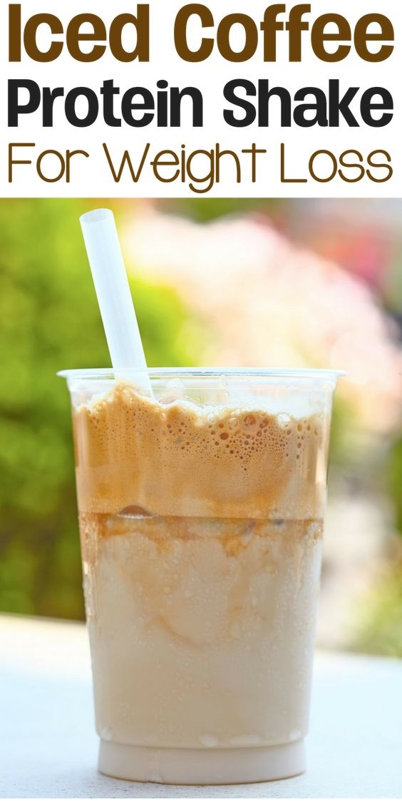 Healthy Iced Coffee Protein Shake Recipe