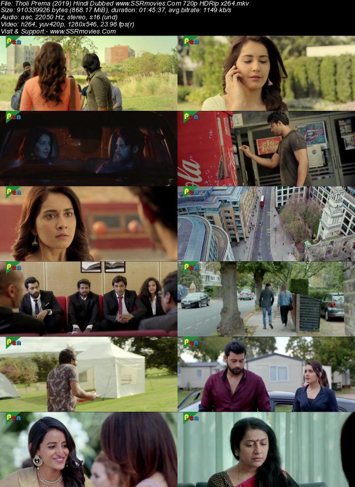 Tholi Prema (2019) Hindi Dubbed 720p HDRip x264 850MB Movie Download