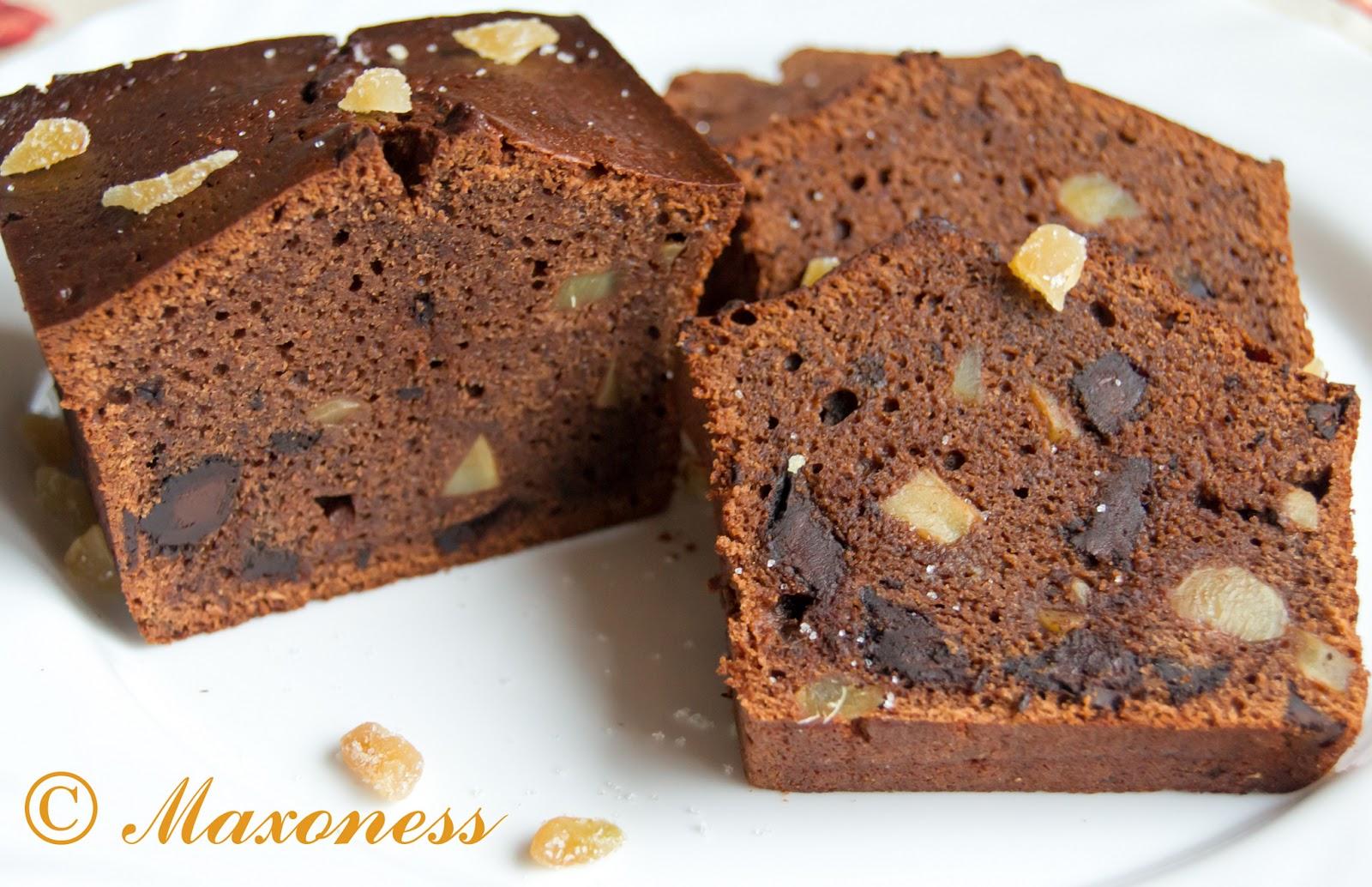 Шоколадный кекс с имбирными цукатами от Пьера Эрме