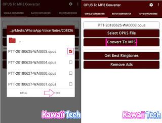 Cara Mengubah Voice Note / Vn (.opus) Dari Whatsapp Menjadi mp3 kawaiitech kawaii tech