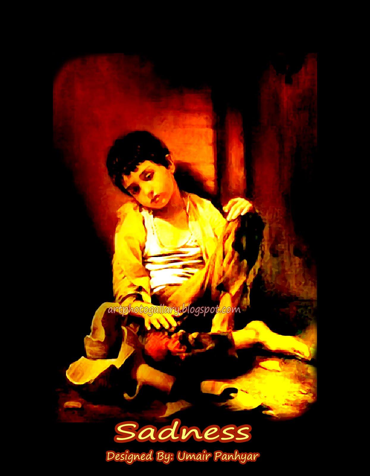 Alone boy sadness