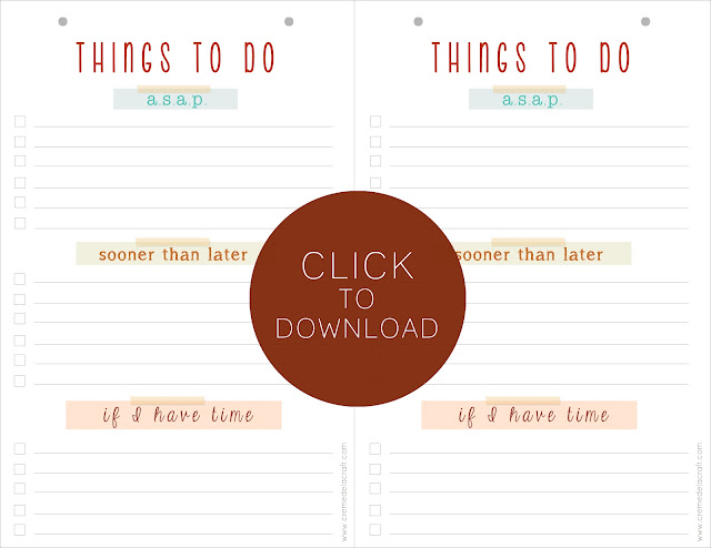 DIY To Do List Notepad (with free printable)